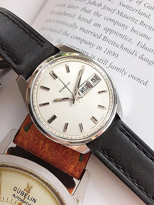1970's Gubelin Day Date Calendar Automatic Watch