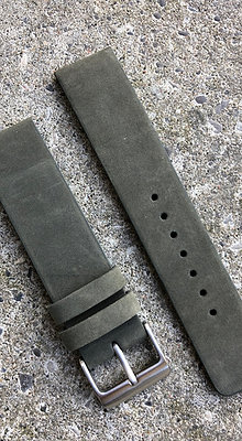 20mm Suede leather Military Green