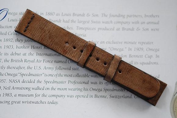 20mm Dark Sand Handmade strap Thick