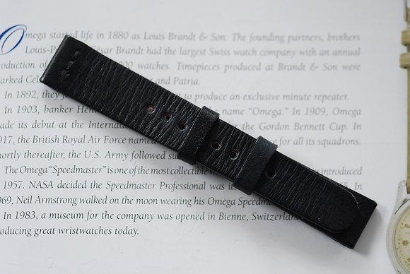 19mm Dark blue Handmade strap Thick