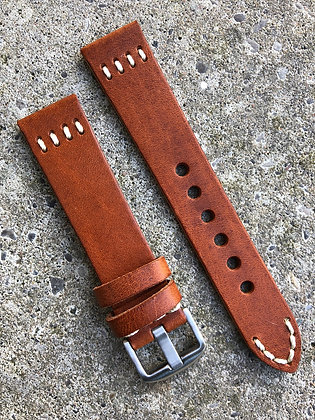20mm Vintage style leather Light Brown