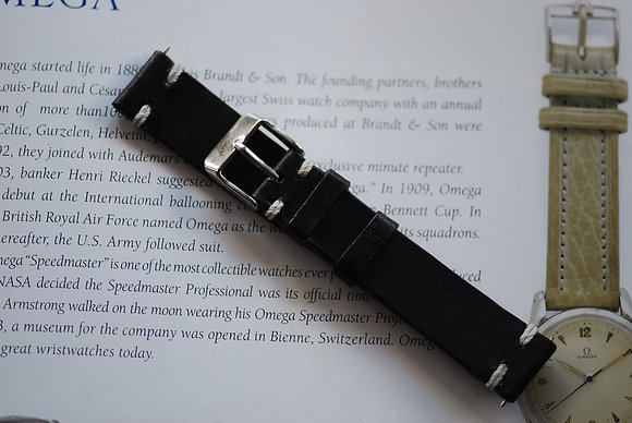 18mm Dark Grey Handmade strap