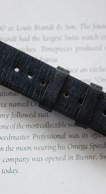20mm Dark Blue Handmade strap Thick