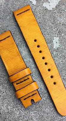 20mm Yellow Handmade strap Thick