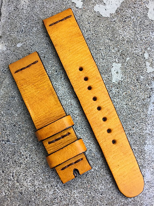 20mm Yellow Handmade strap Thick