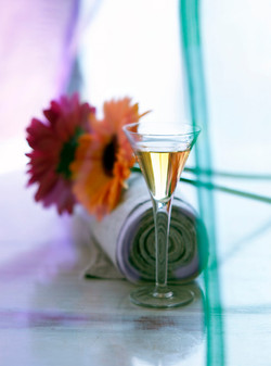 Drink and flower