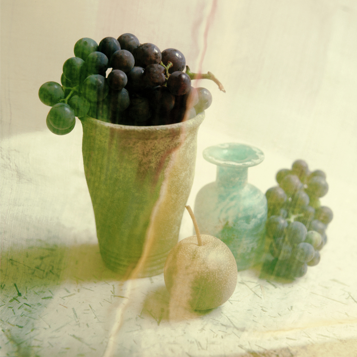Vase grapes fruit