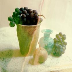 Vase grapes fruit