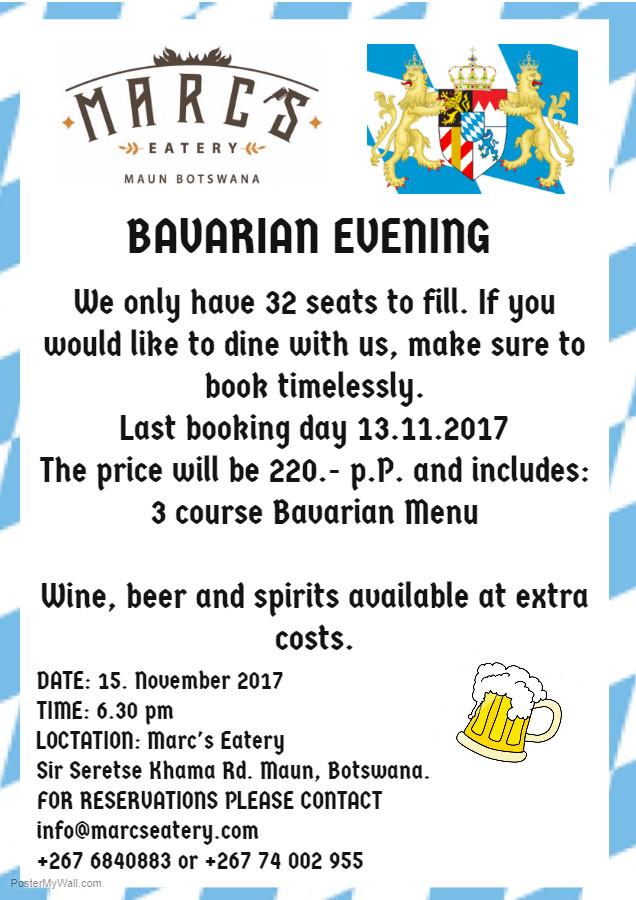Bavarian Dinner at Marc's Eatery