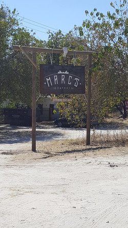 MARC'S EATERY SIGN LOGO BRAND