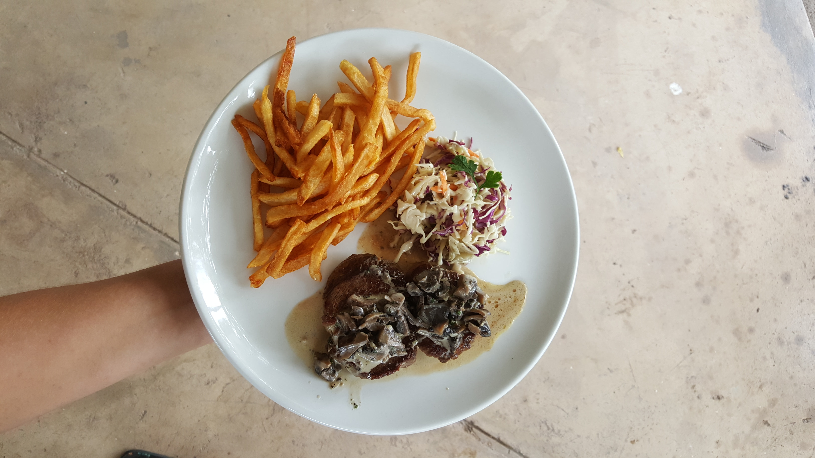 Beef Fillet with Mushroom sauce
