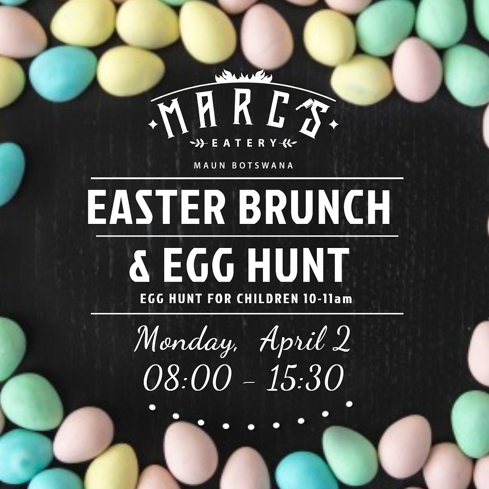 Easter egg hunt and brunch at Marc's Eatery 02.04.18