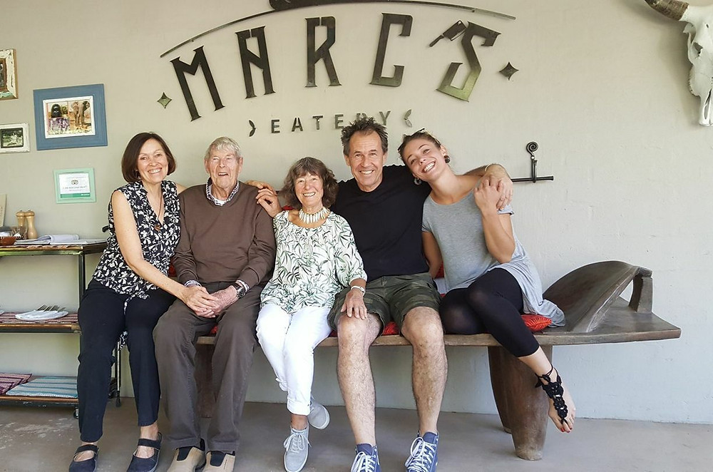 Marc Baar with his family at Marc's Eatery