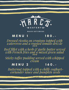 Mid-Weeks Menu at Marc's Eatery