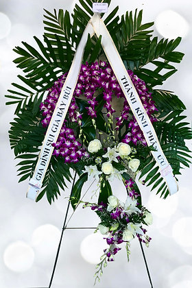 Orchids  & Lillies Tribute - W 8