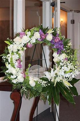 White & Purple Wreath - W1