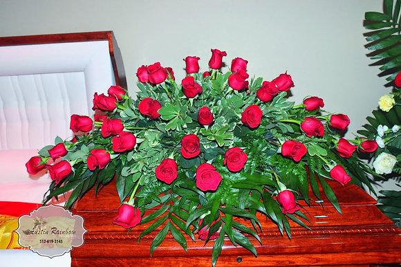 Red Roses Casket