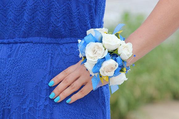 White Roses & Blue Ribbons