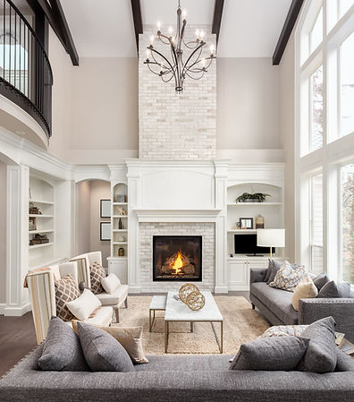 Beautiful living room interior with hard