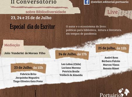II Conversatório sobre Bibliodiversidade:  O autor e o ecossistema do livro em tempo de pandemia
