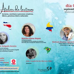 El Atelier de Lectura invita a Fadir Delgado Acosta, Martha Elena Hoyos y Rómulo Bustos Aguirre.