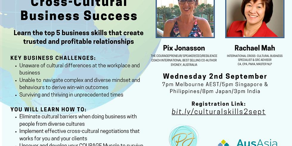 FREE WEBINAR Top 5 Ways To Cross-Cultural Business Success(Value $99)