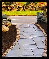 boss landscape company bluestone walkway