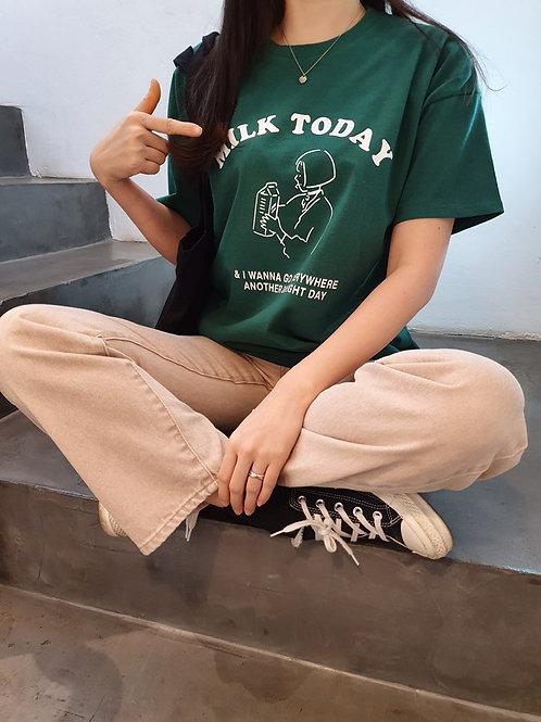 ミルク トゥデイ フロント Tシャツ 全4色