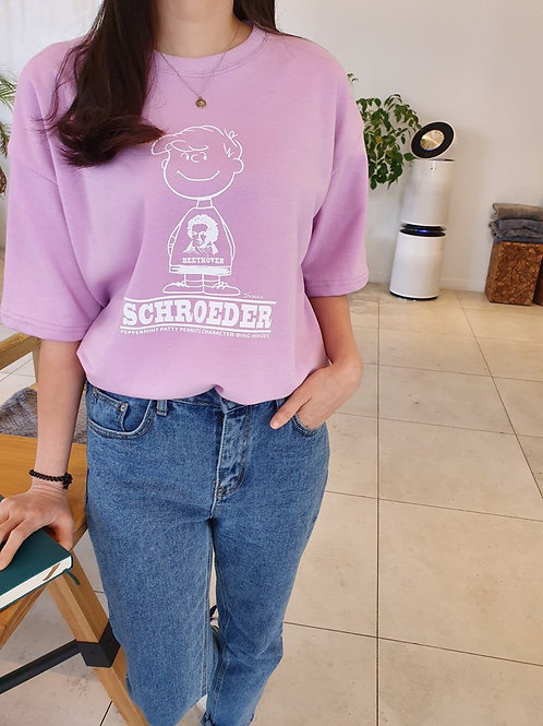 シュローダー スヌーピー Tシャツ 全4色