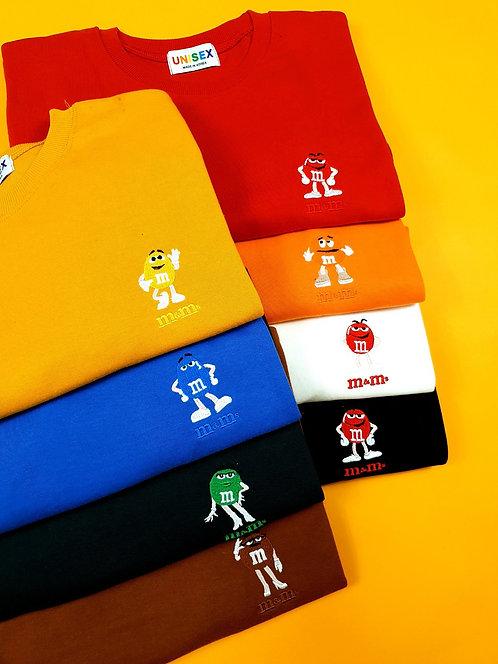 エム&エム ワンポイント Tシャツ 全7色