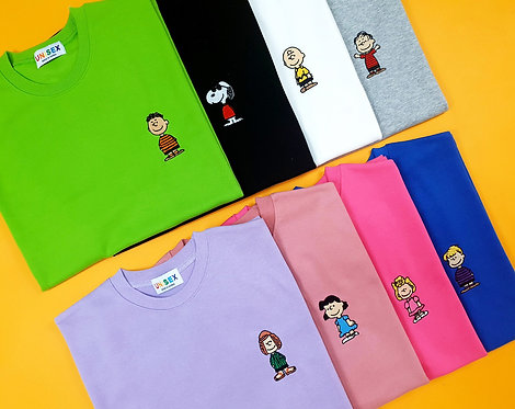 ヌーピー ワンポイント 刺繍 Tシャツ 全8色