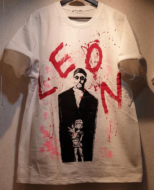 (ハイクオ)レオンハンドペイントTシャツ  全2色