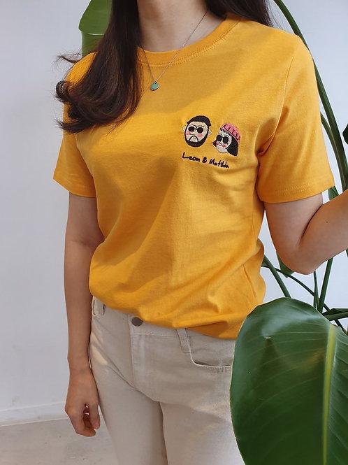 レオンとマチルダ 刺繍 Tシャツ 全4色