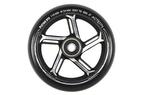 Ethic Acteon 110mm wheel - Black/Raw
