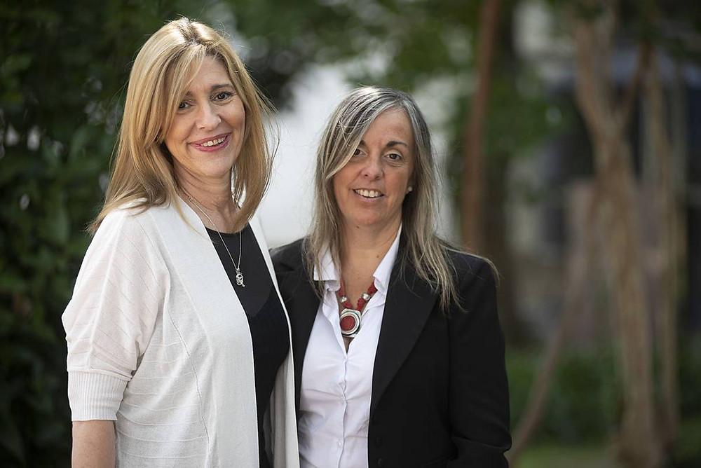 Alejandra Babini y Andrea Vargas.
