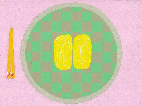 いただきます「卵焼き」  Size A4/Illustration board/with original flame