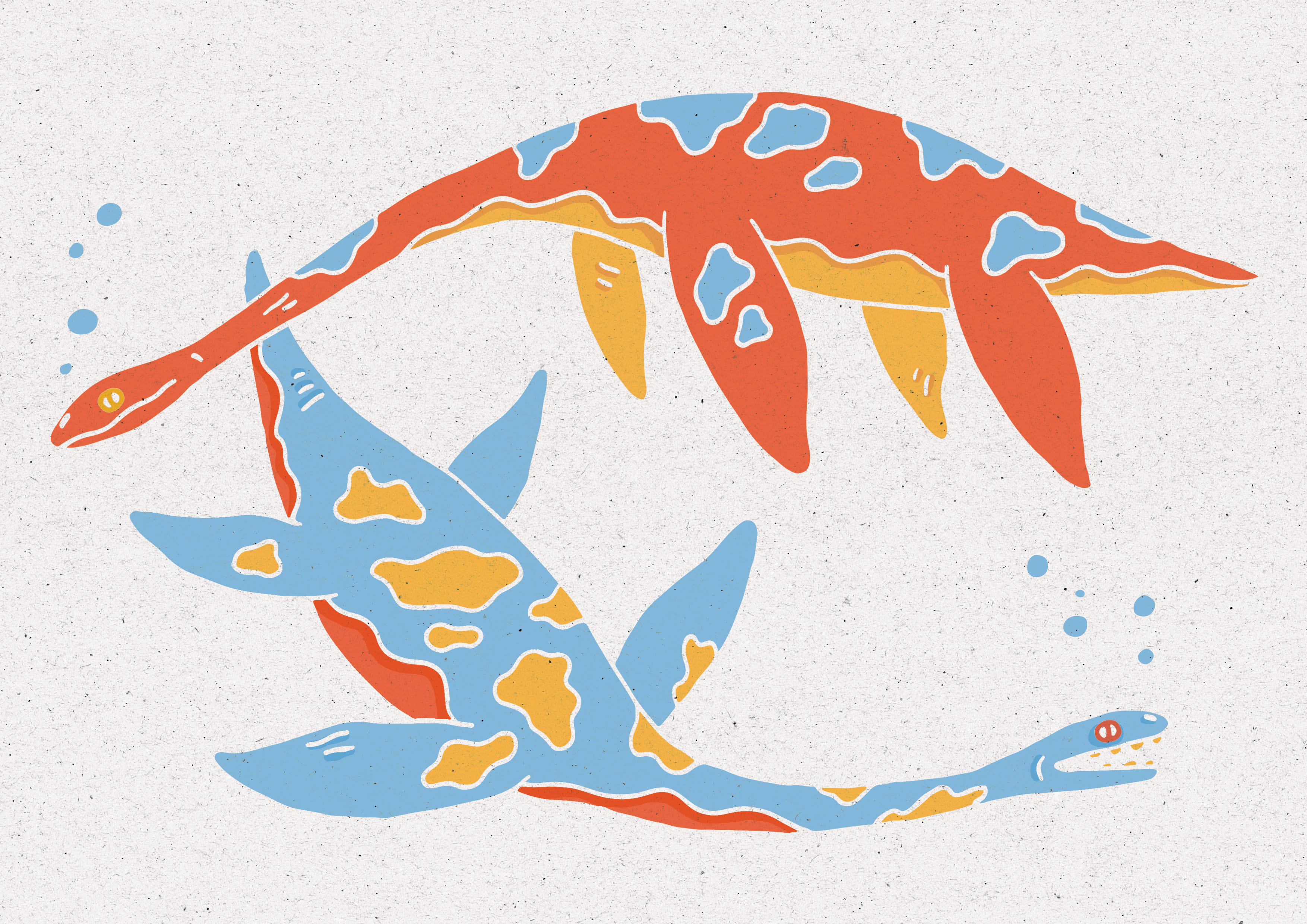 Plesiosaur Print