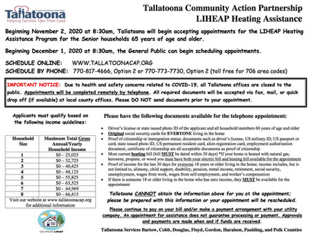 Tallatoona Heating Assistance Program