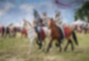 Photoart - knights on horseback at Bosworth battlefield re-enact event.