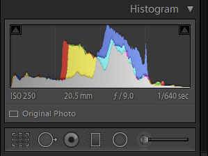 Lightroom histogram for photo blog - Philip Preston photography
