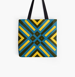 Tote bags designed by Philip Preston, available at his Redbubble store.