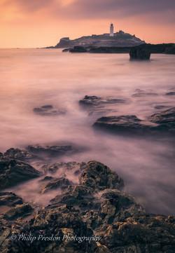 Godrevey Lighthouse, Cornwall