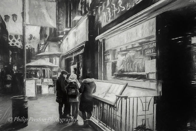 Photograph with charcoal paint effect applied - Philip Preston photography