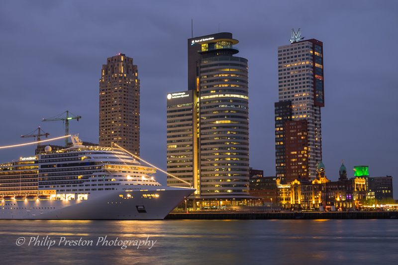 Cruise Ship at Port of Rotterdam, Holland