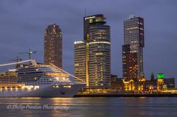 Cruise Ship at Port of Rotterdam, Holland