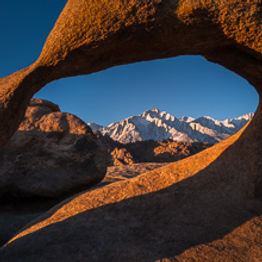 Mobius Arch, Alabama Hills, California - copyright Philip Preston