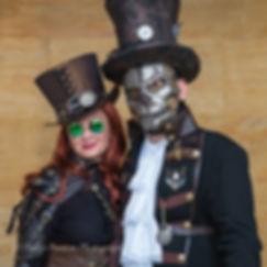 Participants at the annual Lincoln Steampunk Asylum Festival, Lincolnshire, UK.