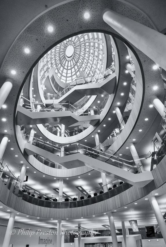 Liverpool Central Library atrium, Merseyside, UK - Philip Preston photography