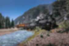 Durango and Silverton steam train, Colorao, USA