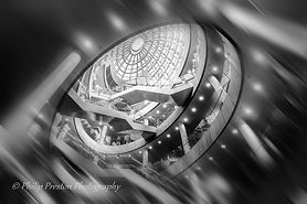 A gallery of monochrome architecture photography with motion blur effects by Philip Preston photography